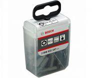 """25ks šroubovacích křížových BITŮ PZ 2 Bosch Extra-Hart (zvlášť tvrdý), 1/4"""", 25mm"""