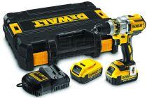 DeWALT DCD995P2 - 2x 18V/5.0Ah XR Li-lon, 80Nm, 3 rychl., 2.13kg, kufr, bezuhl. aku vrtačka s příkl.
