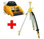 Rotační laser DeWalt DW074K + stavební stativ DE0735