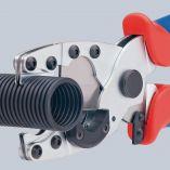 KNIPEX kleště na řezání trubek - 185mm, k řezání vícevrstvých trubek Ø 12-25mm a pružných chrániček Ø 18-35mm (902520)