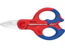 Nůžky elektrikářské Knipex - 155mm, s vícesložkovými návleky, zesílenými skelným vláknem