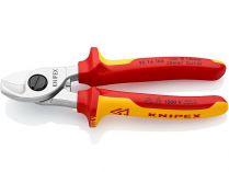 Nůžky na kabely Knipex - 165mm, izolované 1000V VDE, nevhodné pro ocelový drát a měděné vodiče