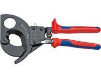 Nůžky na kabely Knipex - 250mm, ráčnové, k střihání měděných a hliníkových kabelů