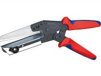 Nůžky na plast KNIPEX - 275mm, k řezání, přiřezávání na délku kabelových kanálů, pro plasty do 4mm