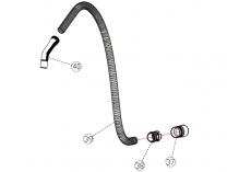 Flexibilní sací hadice k vysavači Scheppach ASP 20 ES - 2m