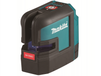 Křížový laser Makita SK106DZ - 12V, 35/80m, červený, 0.48kg, bez aku, profi křížový laser