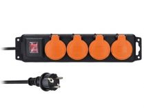 Solight PP334 prodlužovací přívod IP44, 4 zásuvky, gumový kabel,…