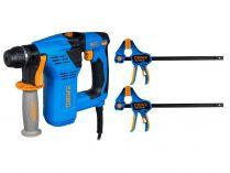 Vrtací kladivo SDS-Plus Narex EKV 21 - 700W, 2.3J, 2.3kg, kufr, dárek: RSX 300-85 DOUBLE SET
