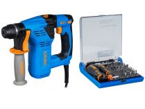 Vrtací kladivo SDS-Plus Narex EKV 21 - 700W, 2.3J, 2.3kg, kufr, dárek: 73-Tool Box MICRO