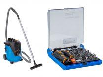 Průmyslový vysavač Narex VYS 21-01 - 1000W, 20L, 7.5kg, dárek: 73-Tool Box MICRO