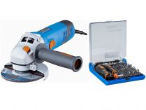 Úhlová bruska Narex EBU 125-14 CE s regulací otáček, 125mm, 1400W, 2.3kg, dárek: 73-Tool Box MICRO