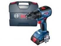Bosch GSR 18V-50 Professional - 2x 18V/2.0Ah, 50Nm, 2 rychl., 1kg, kufr, BL aku vrtačka bez příklepu