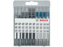 Bosch X-Pro Sada 10ks pilových plátků na DŘEVO a KOV s T stopkou, pilové plátky do kmitací pily