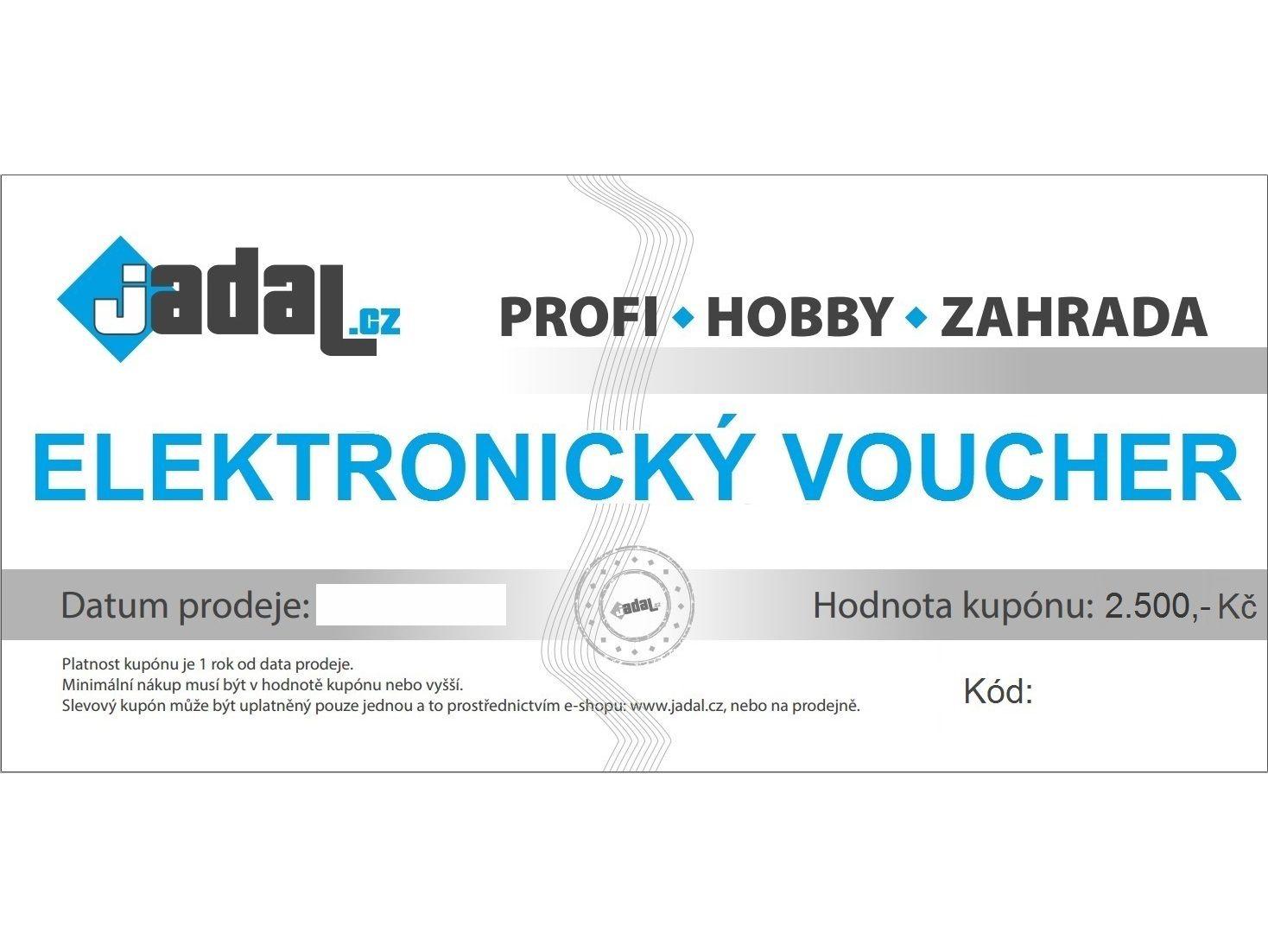 Elektronický voucher - poukaz v hodnotě 2500,-Kč