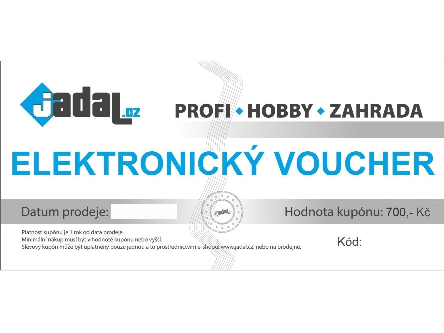 Elektronický voucher - poukaz v hodnotě 700,-Kč