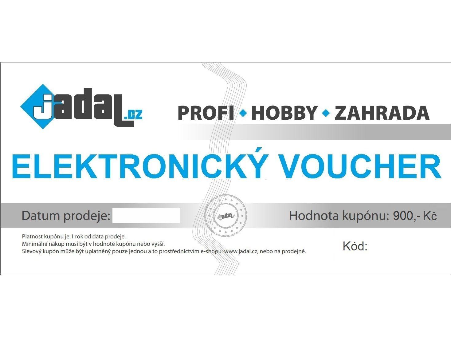 Elektronický voucher - poukaz v hodnotě 900,-Kč
