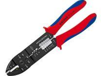 Kleště lisovací KNIPEX - 240mm - ke stříhání, odizolování drátů a lisování ok a konektorů