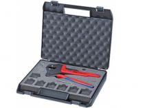Kleště lisovací víceúčelové KNIPEX - 200mm - krimpovací - bez lisovacího nástavce, kufr