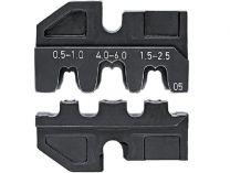 Lisovací nástavec pro lisovací víceúčelové kleště KNIPEX - neizolované otevřené konektory 4.8+6.3mm²