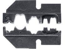 Lisovací nástavec pro lisovací víceúčelové kleště KNIPEX - neizolované otevřené konektory 2.8+4.8mm²