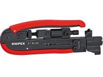 Nástroj pro KOAX konektory KNIPEX - 175mm - Pro lisování konektorů F, BNC a RCA