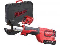 Milwaukee M18 ONEHCC-201C FSW SET - 1x 18V/2.0Ah, kufr, bezuhl. aku hydraulické kleště na kabely