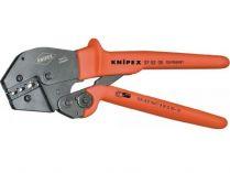 Kleště lisovací KNIPEX - 250mm - pákové, pro izolovaná kabelová oka, konektory+spojovací články