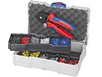 Sada kabelových koncovek s izolací Knipex, v boxu TANOS MINI-systainer®, s kleštěmi 975304, 1240200