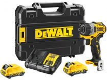 DeWALT DCF601D2-QW - 2x 12V/2.0Ah, 8Nm, 0.61kg, kufr, bezuhlíková aku vrtačka bez příklepu