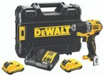 DeWALT DCD706D2-QW - 2x 12V/5.0Ah, 57.5Nm, 0.96kg, kufr, bezuhl. aku vrtačka s příklepem
