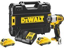 """DeWALT DCF902D2-QW - 2x 18V/2.0Ah, 3/8"""", 168Nm, kufr, bezuhlíkový aku rázový utahovák"""