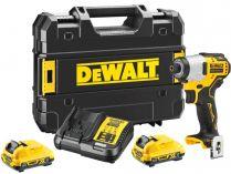DeWalt DCF801D2-QW - 2x 12V/2.0Ah, 163Nm, bezuhl. aku rázový utahovák s přesným kroutícím momentem