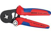 Kleště lisovací KNIPEX - 180mm - samonastavitelné, čtyřhranné lisování, na dutinky 0.08-10+16mm²