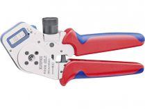 Kleště lisovací KNIPEX - 195mm - čtyřtrnové, digital, soustružené kontakty 0.08-2.5mm²