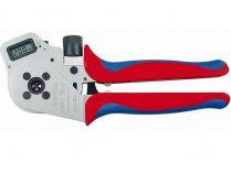 Kleště lisovací KNIPEX - 250mm - čtyřtrnové, digital, stočené kontakty 0.14-6mm², v kufru