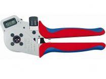 Kleště lisovací KNIPEX - 250mm - čtyřtrnové, digital, stočené kontakty 0.14-6mm²