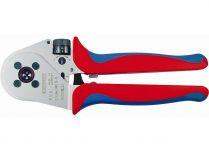 Kleště lisovací KNIPEX - 250mm - čtyřtrnové, stočené kontakty 0.14-6mm², v kufříku