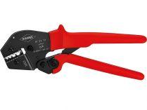 Kleště lisovací KNIPEX - 250mm - pákové, pro neizolovaná dvojitá, potrubní a lisovaná kabelová oka