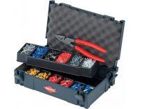 Sada kabelových koncovek s izolací Knipex, v boxu TANOS MINI-systainer®, s kleštěmi Knipex 9771180