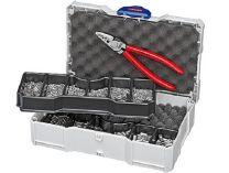 Sada kabelových koncovek bez izolace Knipex, v boxu TANOS MINI-systainer®, s kleštěmi Knipex 9771180