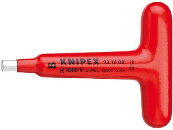 Šroubovák s šestihranem-imbus Knipex, izolovaný 1000V VDE, 5mm, rukojeť T 120mm (981405)