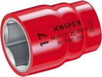 """Nasazovací nástrčný klíč izolovaný Knipex 3/8"""", 1000V VDE, 17mm"""