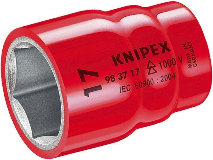 """Nasazovací nástrčný klíč izolovaný Knipex 1/2"""", 1000V VDE, 10mm, pro šestihranné hlavy metrických šroubů (984710)"""