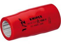"""Hlavice nástrčná izolovaná Knipex 1/2"""", 1000V VDE, velikost klíče 7/8"""", 12hran"""