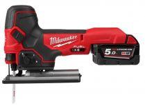 Milwaukee M18 FBJS-502X - 2x 18V/5.0Ah, 100mm, 2.8kg, kufr, dárek, bezuhl. aku přímočará pila