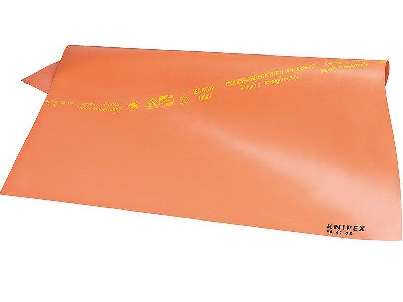 KNIPEX - přehoz pryžový isolační 500x500x1mm - izolovaný 1000V (986705)