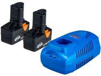 Sada nabíječky a akumuátoru Narex SET AP 204 - 2x 20V/2.0Ah + nabíječka