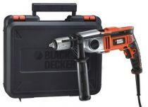 Příklepová vrtačka Black-Decker KR911K - 910W, 13mm, 2.6kg, kufr