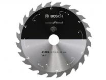 Pilový kotouč na dřevo Bosch Standard for Wood - 216x30mm, 24z, 25/10°
