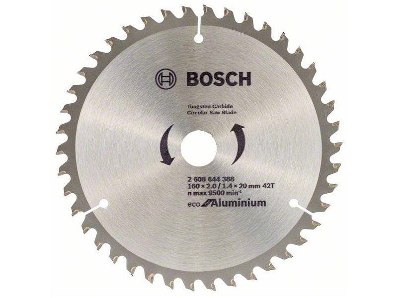 Pilový kotouč na hliník Bosch Eco for Aluminum - 160 x 20 mm, 42 zubů (2608644388) Bosch příslušenství
